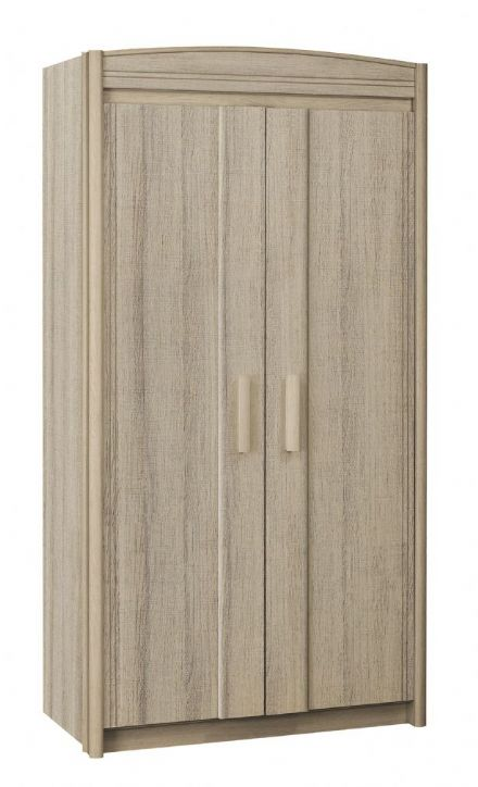Brooklyn 2 Door Wardrobe in Oak Ash or Cherry White